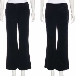 Theory Black Corduroy Wide Leg Trouser Pants